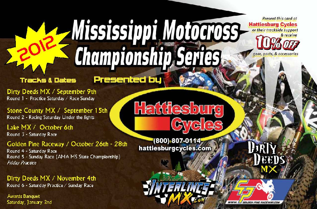 Mississippi Championship Series Final Standings