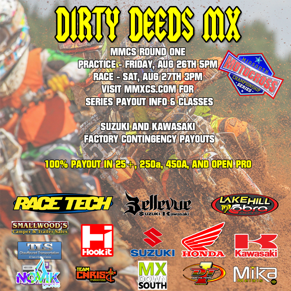MMCS Round 1 Dirty Deeds MX August 26/27